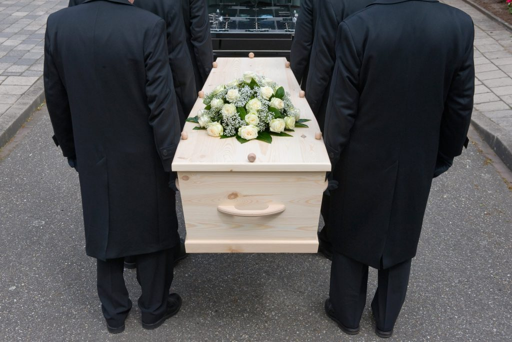 funeral service carrying of casket