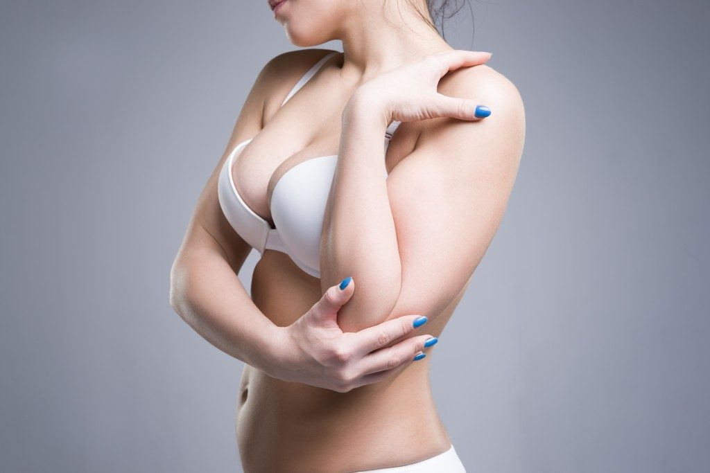 woman with plump breast