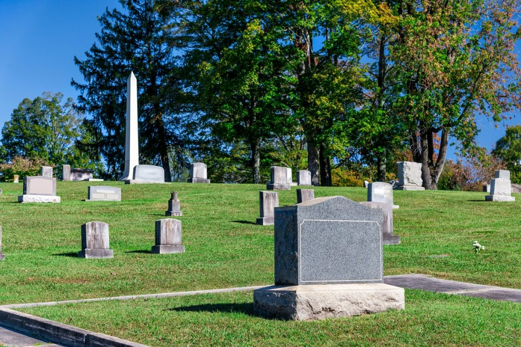 Graves at the cemetery