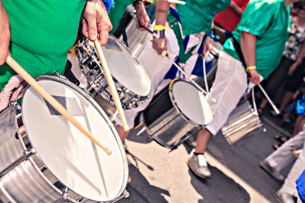 Drums performance at a festival