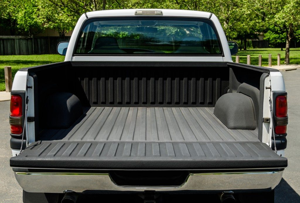 Open back pickup truck