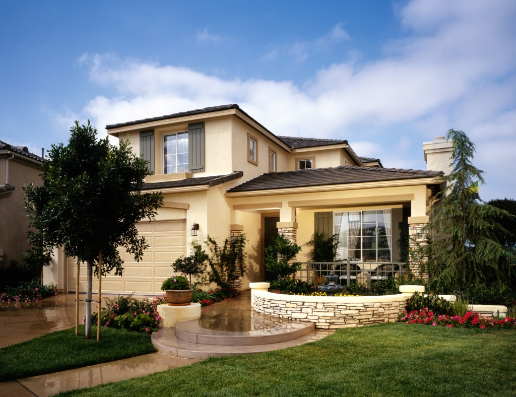 Home exterior with lanscaping