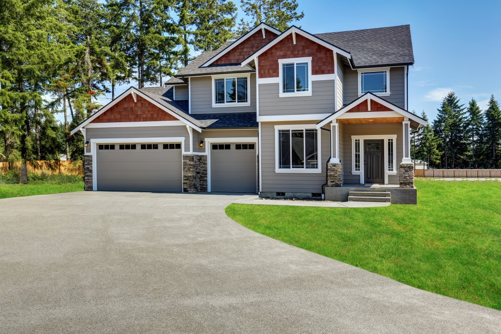 Asphalt residential driveway