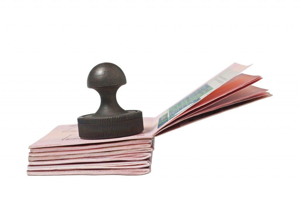 passports and stamp