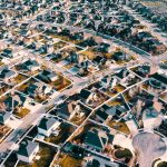 a neatly arranged neighborhood