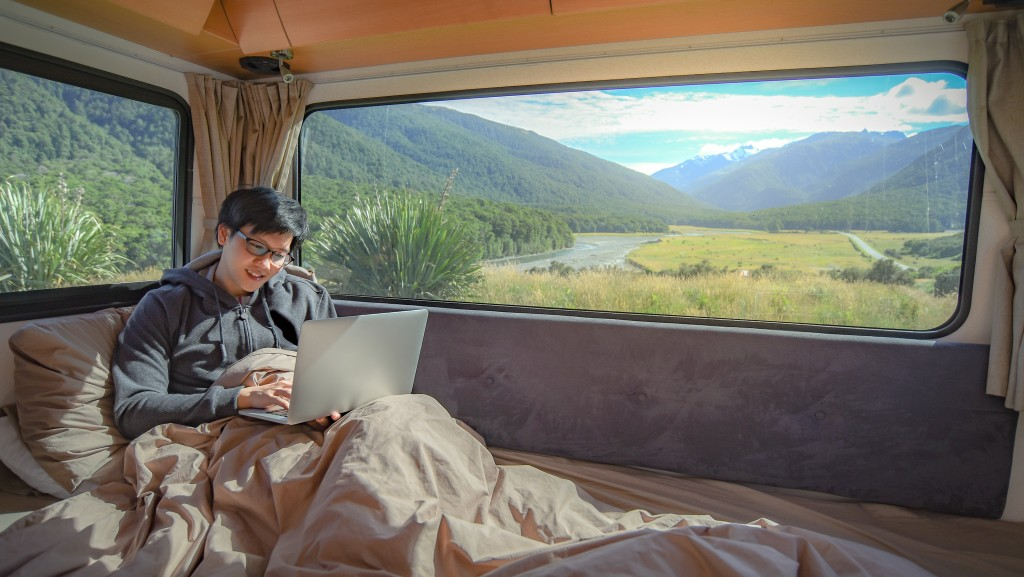 working in an RV