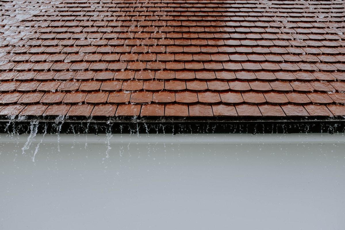 roof while raining