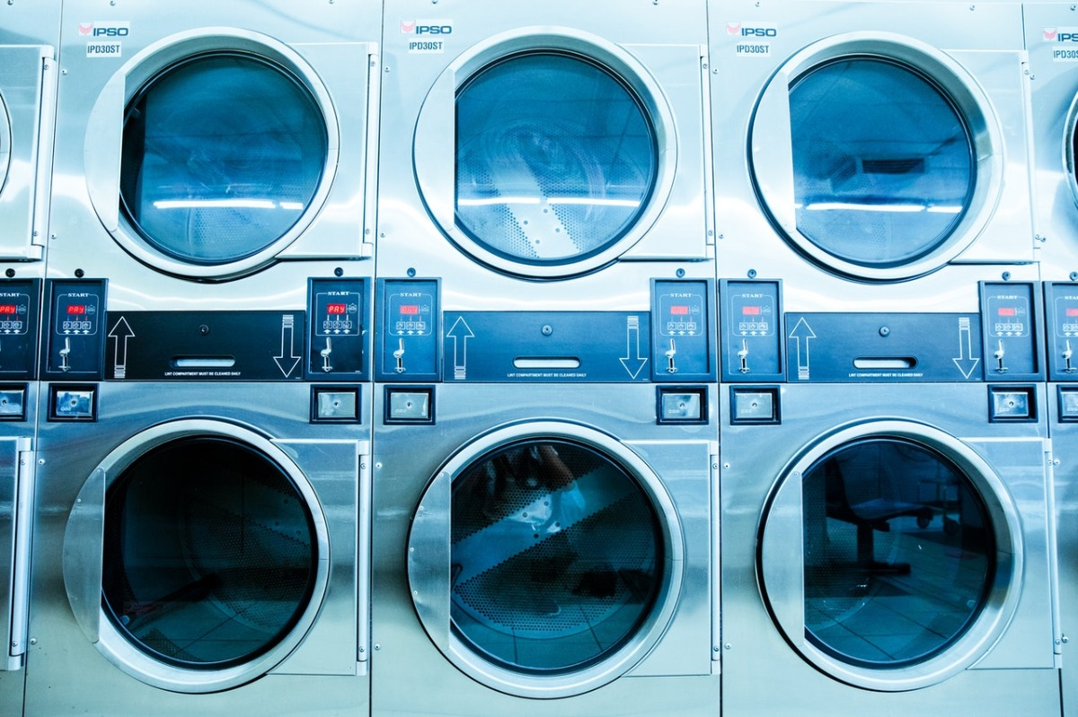 machines at a laundromat