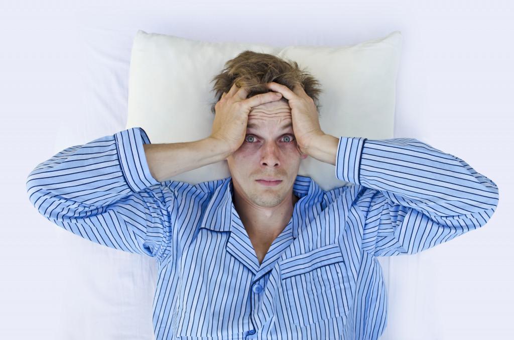 sleep deprived man